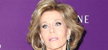Jane Fonda in Versace at the Costume Designers Guild Awards: slaying it?