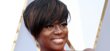 Viola Davis was a major fashion winner in custom Armani at the Oscars