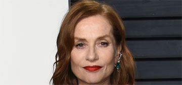 Isabelle Huppert in Armani at the VF Oscar Party: better party dress?