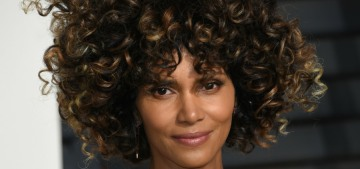 Halle Berry in Versace at the VF Oscar party: super-fun or just silly?