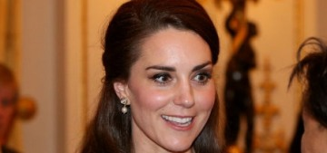 Duchess Kate in Erdem at a Buckingham Palace reception: dated or sweet?