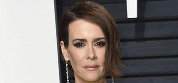 Sarah Paulson in Ronald Van Der Kamp at the VF Oscar party: dowdy or edgy?
