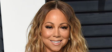 Mariah Carey in Phillip Plein at the VF Oscar Party: too tight or glam?
