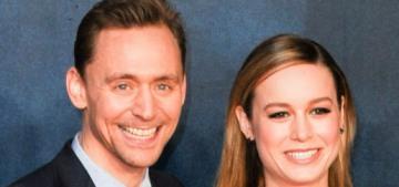 Tom Hiddleston & a Ralph & Russo-clad Brie Larson premiere 'Kong: Skull Island'