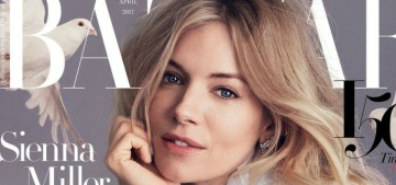 Sienna Miller's really pushing a whitewashed narrative, complete with doves