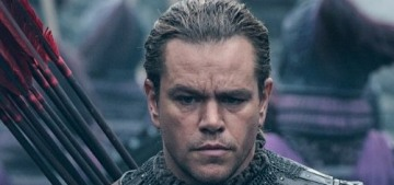 Matt Damon's 'The Great Wall' will end up with losses around $75 million