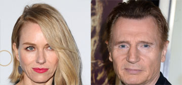 Enquirer: Newly single Naomi Watts has been dating Liam Neeson