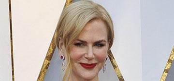 Nicole Kidman explains odd Oscar clapping, she was wearing a 13 carat ring