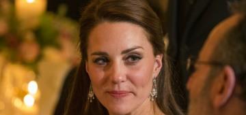 Duchess Kate wears McQueen & Jenny Packham for Paris receptions