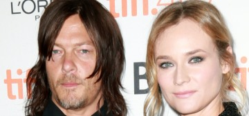 Diane Kruger & Norman Reedus sucked face in a series of bars this week