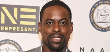 Sterling K. Brown hits the gym for new role and shows his abs on social media