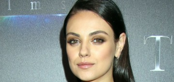Mila Kunis made her first red-carpet outing since giving birth to son Dimitri