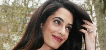 Amal Clooney in vintage Dior & Balmain in London: stunning or too clash-y?