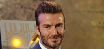 What happened to David Beckham's pretty face?