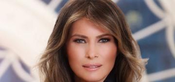 Melania Trump's official FLOTUS portrait is Peak '80s Glamour Shot