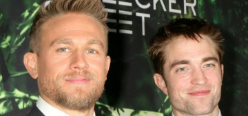 Charlie Hunnam, Brad Pitt & Sparkles attended the LA 'Lost City of Z' premiere