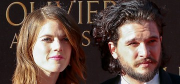 Kit Harington & Rose Leslie looked absolutely adorable at the Olivier Awards