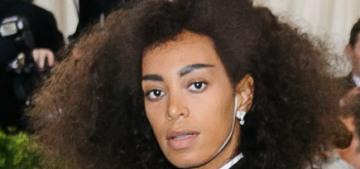 Solange Knowles in Thom Browne at the Met Gala: chic or ski-coat-fug?