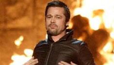 Brad Pitt to Mel Gibson: 'Thanks, sugart-ts!' (Guys Choice awards spoilers)