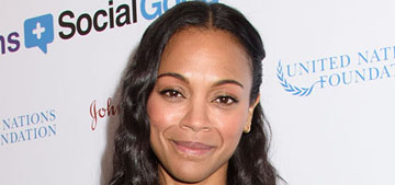 Zoe Saldana: Britney Spears told the press I was pregnant before I was ready