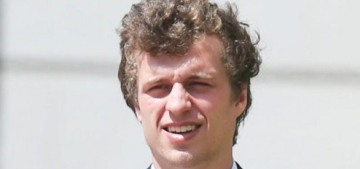How many times will Conrad Hilton violate his ex-girlfriend's restraining order?