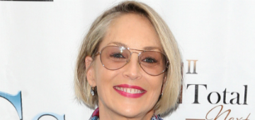 """Sharon Stone's sons present her with """"Mother of The Year"""" award"""