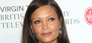 """Thandie Newton's Westwood gown looked like fancy wallpaper"" links"