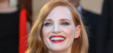 Jessica Chastain in McQueen at the Cannes Film Festival: cute or tragic?