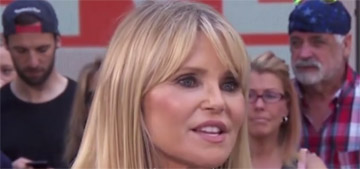Christie Brinkley on recovering from an injury: if you rest it, that's how you age