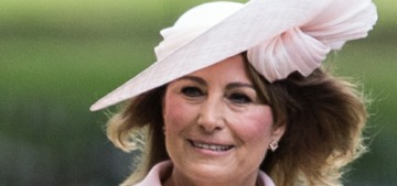 Carole Middleton wore custom pink Catherine Walker to Pippa's wedding