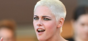 Kristen Stewart wore a Chanel bandeau & suspenders in Cannes: WTF?