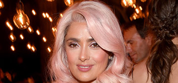 Salma Hayek gives pink hair a go: cute or doesn't suit her?