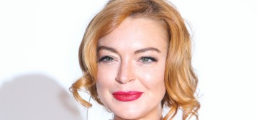Lindsay Lohan reemerged for the Cannes amfAR gala: messy or fine?