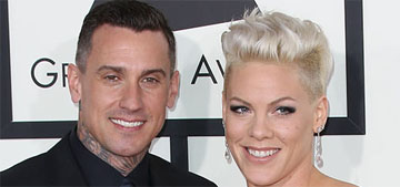 Pink's husband Carey Hart gave her a custom motorcycle as a push present