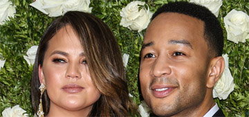 Chrissy Teigen in Pamella Roland at the Tony Awards: decent for her?