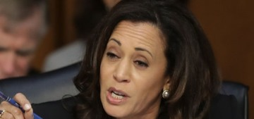 Kamala Harris's male colleagues interrupted her again during the Sessions hearing