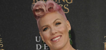 Pink got stuck in an elevator before her first showin four years