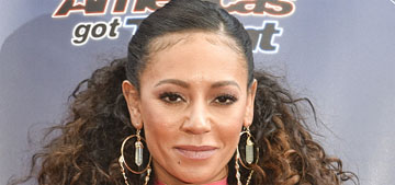 Mel B looks incredible in a pink skintight latex dress