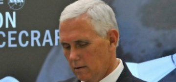 Mike Pence really did touch the space equipment labeled 'Do Not Touch'