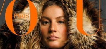 Do you recognize Gisele Bundchen on the August cover of Vogue Paris?