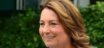Carole Middleton wears a copy of a £4,000 McQueen originally worn by Kate