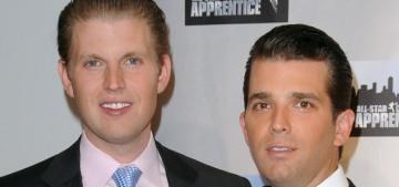 Eric Trump & Donald Trump Jr. are very jealous of precious Jared Kushner