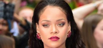 Rihanna in Giambattista Valli at UK 'Valerian' premiere: messy maternity sack?