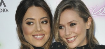 """Elizabeth Olsen & Aubrey Plaza dressed like twinsies for their premiere"" links"