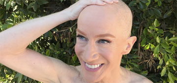 Kathy Griffin shaved her whole head to support her sister with cancer