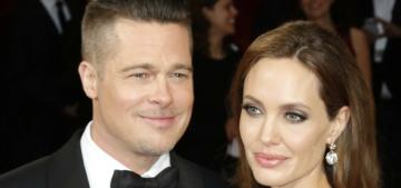 E!: No really, Brad Pitt & Angelina's divorce is 'not moving forward right now'