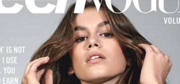 Kaia Gerber, 15: 'It is so key to me to be a good role model for young girls'
