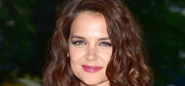 Katie Holmes in plum Mayle at 'The Tick' premiere: tragic or beautiful?