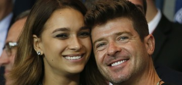 Robin Thicke, 40, is expecting a daughter with his 22-year-old girlfriend