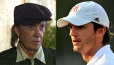 Ashton Kutcher evokes Sharon Stone: uses 'karma' to refer to David Carradine's death